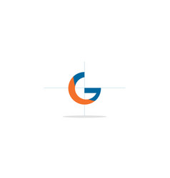 g initial colored logo vector image