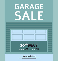 Garage sale advertising inviting banner or flyer vector