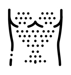 hairy chest icon outline vector image