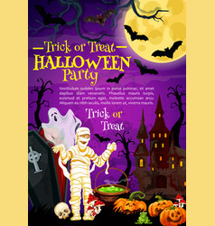 halloween holiday greeting banner with scary ghost vector image