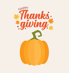 happy thanksgiving pumpkin vector image