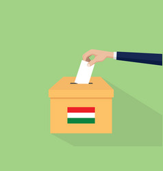 hungary election vote concept with vector image