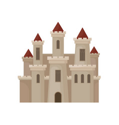 large royal castle fortress with big windows vector image