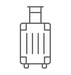 luggage thin line icon travel and tourism vector image