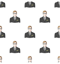 Male realtorrealtor single icon in cartoon style vector