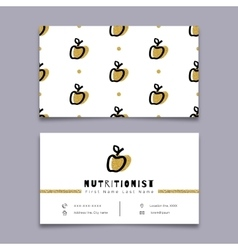 Nutritionist business card dietitian Trendy vector image