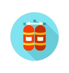 Oxygen tank flat icon with long shadow vector