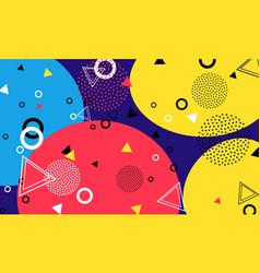 pop art color background memphis pattern of vector image