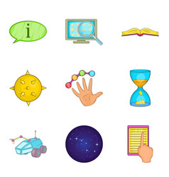 Problem solving icons set cartoon style vector