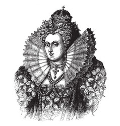 Queen elizabeth i of england vintage vector