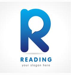 reading r logo vector image