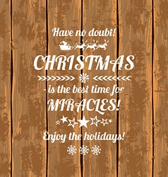 Retro Christmas Greeting Card With Typography Text vector