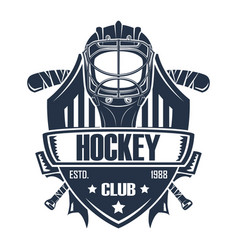 rgbhockey badge club vector image
