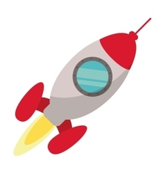 Rocket startup launching vector