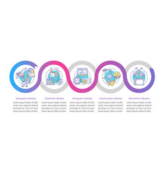Secondary sector economy infographic template vector