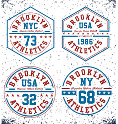 set athletics brookyn t shirt graphic vector image