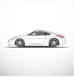 Sketch of japan sport car vector