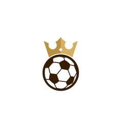 soccer king logo icon design vector image