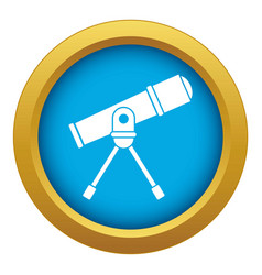 Space telescope icon blue isolated vector