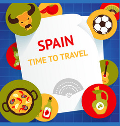 Spain background template vector image