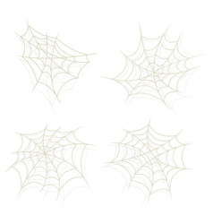Spider web set vector