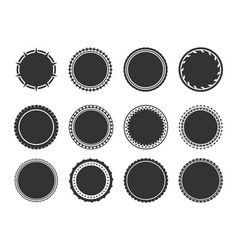Stamps and stickers icons set vector