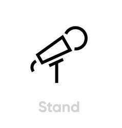 stand microphone icon editable line vector image