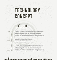 Technology report flyer design template brochure vector