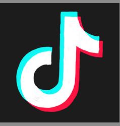Tiktok logo free vector