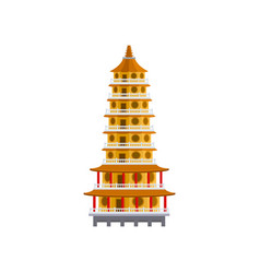 Traditional taiwan temple historic building vector