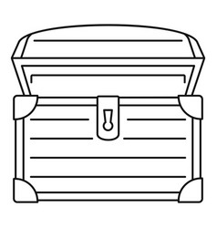 Treasure chest icon outline style vector