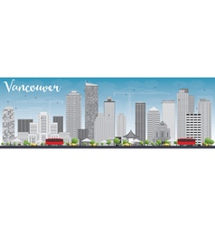 Vancouver skyline with grey buildings vector image