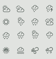 weather forecast pictograms - day vector image