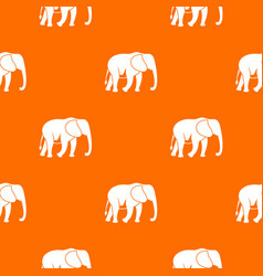 wild elephant pattern seamless vector image