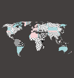 world map abstraction vector image