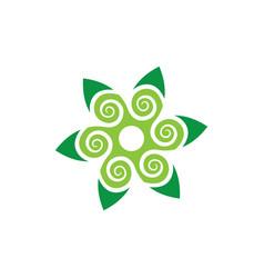 Abstract leaf swirl eco logo vector