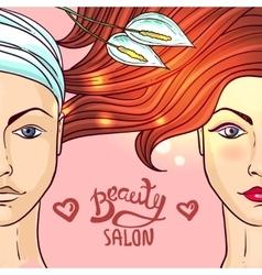 beauty salon makeup vector image