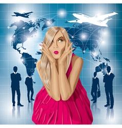 flight vector image vector image