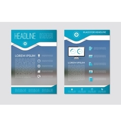 Flyer brochure template with blurred background vector image