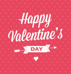 Happy Valentines day card with ribbons vector image vector image