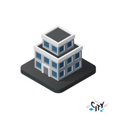 Isometric apartment house icon building city vector image