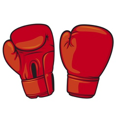 red boxing gloves vector image vector image