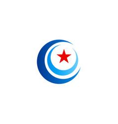 round circle star logo vector image
