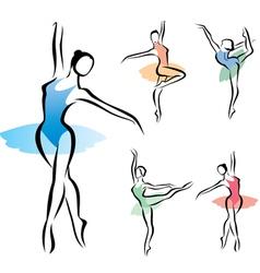 balet dancer vector image vector image
