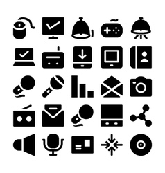Communication Icons 12 vector image