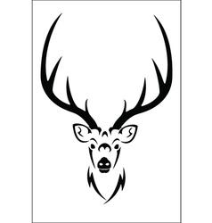 Deer symbol vector image vector image