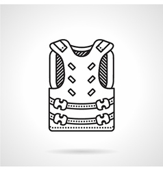 Paintball harness black icon vector image