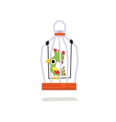 Parrots in a Cage vector image