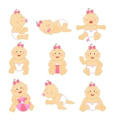 Simple newborn baby or toddler vector image