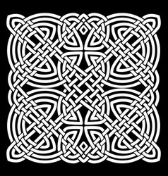 white and black celtic mandala background vector image